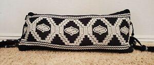"Pendleton Kiva Steps Decor Pillow Black 30"" x 14"" NWT"
