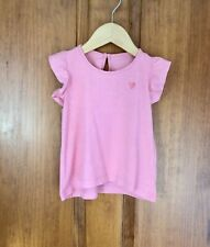 New listing Toddler Girl's Pink Heart Short Sleeve Casual Cotton Tshirt - Size 2-3 Years