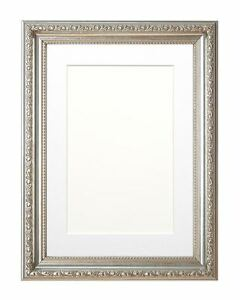 Ornate Swept Picture Frame Photo Frame Poster frame with Mount Gold and Silver