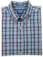 Pendleton Mens XL Broadway Cloth Wrinkle Resistant Button Down L/S Shirt Blue