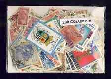 Colombie - Colombia 200 timbres différents oblitérés