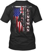Stylish Proud Lineman Premium Tee T-Shirt Premium Tee T-Shirt
