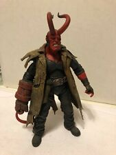 """MEZCO Hellboy 7"""" action figure Battle Damaged Previews Exclusive with Full Horns"""