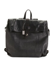 $750 Gianni Segatta Italian Leather Backpack with Handstitched Weave – New