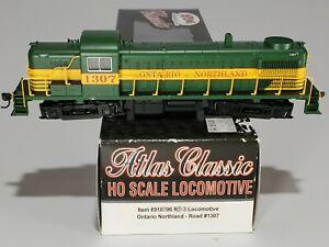 ATLAS CLASSIC SERIES #910706 RS3 LOCOMOTIVE ONTARIO NORTHLAND #1307 HO TRAINS NM