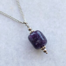 Chain Amethyst Stone Costume Necklaces & Pendants