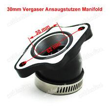30mm Vergaser Ansaugstutzen Manifold für Engine ATV Quad Buggy Dirt Bike