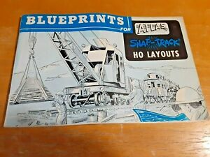 VINTAGE Atlas Tool Company Train Booklet BLUEPRINTS for SNAP-TRACK HO LAYOUTS