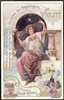 Violet Rainbow Woman NICE Art Nouveau c1900 Trade Ad Card