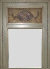 Neoclassical Style Large Painted Trumeau Mirror