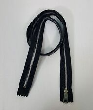 """36"""" Black Nickel Zipper YKK Separating Japan For Jackets, Coats and more"""