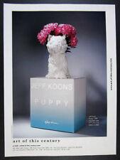 2000 Jeff Koons Puppy Vase photo Art of this Century vintage print Ad