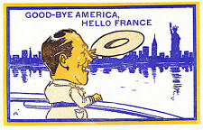 WORLD WAR ONE AMERICAN SOLDIER SAYING GOOD BYE TO NYC & USA AND HELLO TO FRANCE