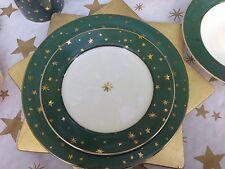 One Salad Plate  Galaxy Green Gold Star Sakura Holiday Celebration