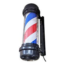 70cm barber pole. Red white and blue LED. Black frame. Indoor/outdoor