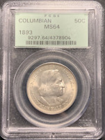:1893 S50C Columbian-Exposition Commemorative-Half-Dollar PCGS MS-64 High-Grades