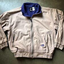 Men's Vintage 90's Nike ACG Gray Fade Blue Fleece Lined Windbreaker Jacket Sz XL