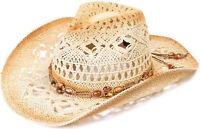 Boys Girl Kids Summer Classic Western Cowboy Cowgirl Beach Sun Hat Shapeable Cap