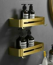Wall Mounted Brushed gold Space Aluminum Storage Shower Caddies & Organisation