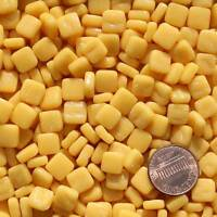 8mm Mosaic Glass Tiles - 2 Ounces About 87 Tiles - Creamy Yellow