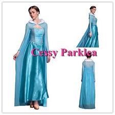 E4-1 Women's Frozen Snow Queen Elsa Costume Cosplay Party Gown Fancy Dress