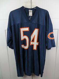 Reebok Chicago Bears Brian Urlacher Jersey Adult 2XL Blue Football NFL Mens