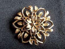 Sarah Coventry Goldtone Flower Brooch.1970's. Signed Back.