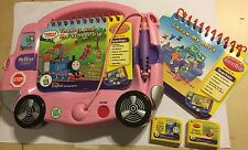 PINK BUS LEAP FROG MY FIRST LEAPPAD LEAP PAD CONSOLE + 2 CARTRIDGES & BOOKS