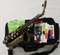Antique Bronze Professional TaiShan Bb Curved Soprano Saxophone High F# Sax New