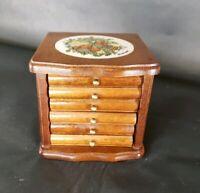 Vintage Goodwood Coaster Set Corelle Spice of Life Six Coasters w/Holder Wooden