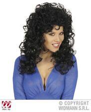 Parrucca donna attraente nera travestiemento carnevale