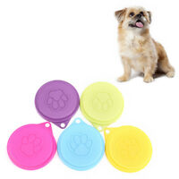 88mm Pet Dog Cat Food Storage Can Tin Cover Lid Top Cap Random Color Reusable JP