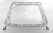 1902 Antique Bailey Banks Biddle Peter L Krider Repousse Sterling Silver Tray
