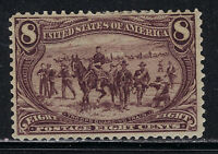 SCOTT 289 1898 8 CENT TRANS-MISSISSIPPI EXPOSITION ISSUE MH OG VF CAT $130!