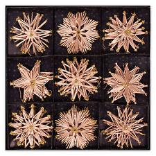 Stroh Sterne handgefertigt 27x  Ø ca.11 cm Weihnachtschmuck Baumschmuck Baumdeko