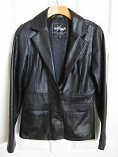 Wilsons Leather Jacket Maxima Black 3 Button Lined Coat Women's Size M