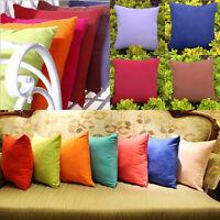 Cotton Cushion Solid Pillowcase Pillow Cover Sofa Car Waist Throw Decor 40x40cm