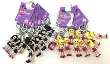 (20) Lego Friends Stephanie & Emma Minifigure Keychains Party Favor Great Gift
