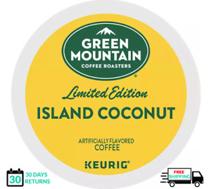 Green Mountain Island Coconut Keurig Coffee K-cups YOU PICK THE SIZE