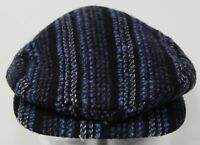 VTG 50s BHC Bollman Hat Company Popularity Blue Wool Tweed Flat Cap Hat 6 3/8