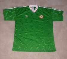 1990 world cup adidas republic of ireland soccer jersey green mens xl