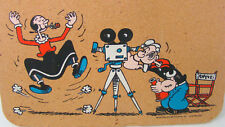 Vtg Popeye Bulletin Cork Board Olive Oil Making a Movie 1980 King Features Color