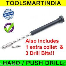 PCB Push Drill + 2 Collet + 5 Drill bits |  Hand Tool
