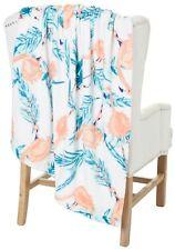 New Pink Flamingo Plush Soft Throw Blanket 50 X 70 Think Florida