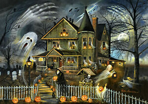 1000 Pcs Puzzle Halloween Scary Haunted House Jigsaw Adult Kid Educational Toys