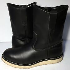 Red Wing® 8169 Pecos Heritage Black Chrome Leather Riding Work boot Men Size 8 E
