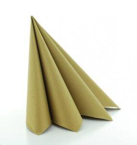 Serviette Gold aus Linclass® Airlaid 40 x 40 cm, 50 Stück