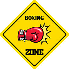"""*Aluminum* Boxing Zone Funny Metal Novelty Sign 12""""x12"""""""
