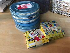 Vtg 8mm Home Movie Lot of 6 Travel,racing 1960 indy, space glenn 3 cartoon rare