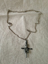 Pagan Skeleton Cross NECKLACE Gothic